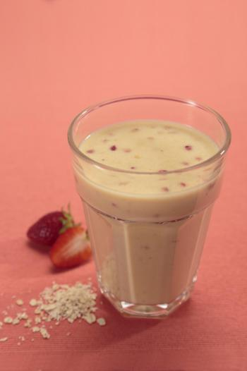 Aardbeien banaan havermout smoothie