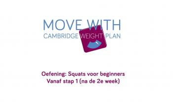 Move with Cambridge Weight Plan: Squats voor beginners